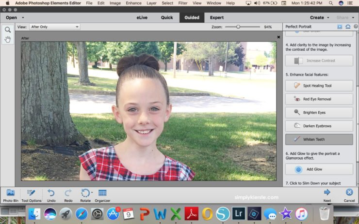 Editing a picture in Photoshop Elements | simply kierste.com