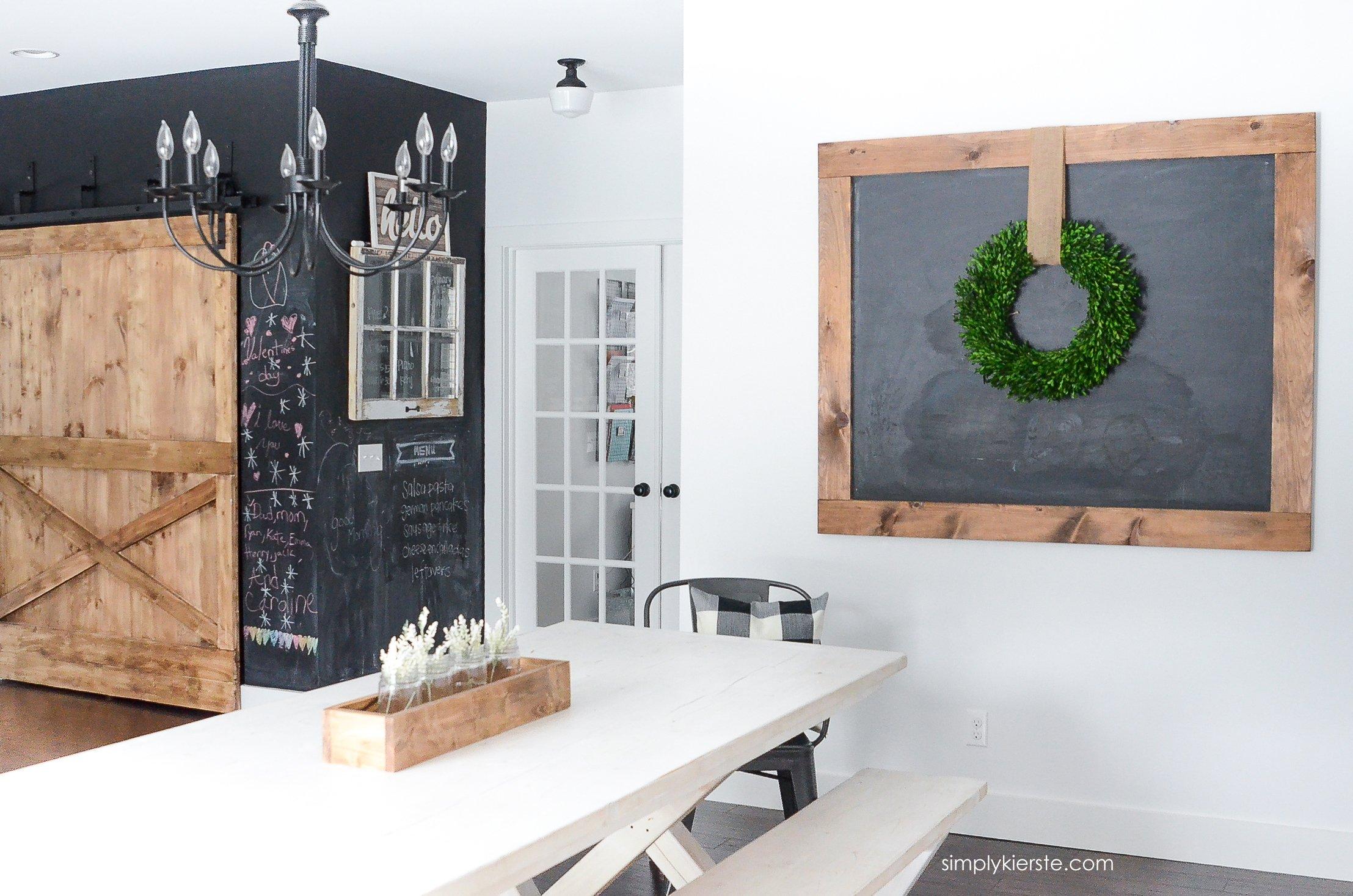 DIY Giant Chalkboard - Simply Kierste Design Co.