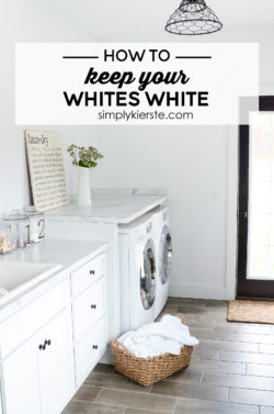 How to Keep Your Whites White | simply kierste.com