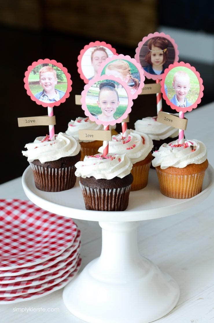 Photo Cupcake Toppers | simply kierste.com