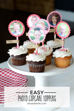 Photo Cupcake Toppers | simply kierste.com