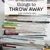 Things to Throw Away, Donate, or Recycle | Get Organized! | simply kierste.com #organizingtips #organizingideas #thingstothrowaway #decluttering #whattothrowaway #howtoorganize #whattoorganize #organizationideas #organizationmethods