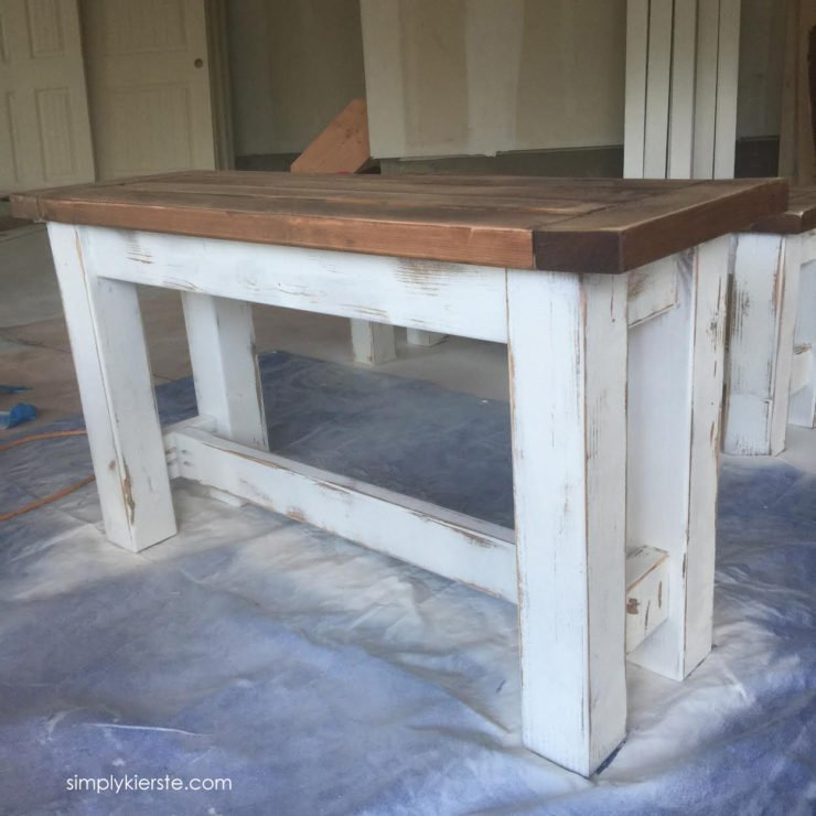 DIY Kitchen Benches | oldsaltfarm.com
