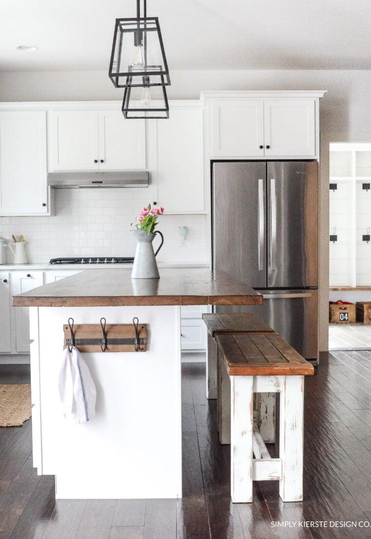 DIY Kitchen Benches | simply kierste.com
