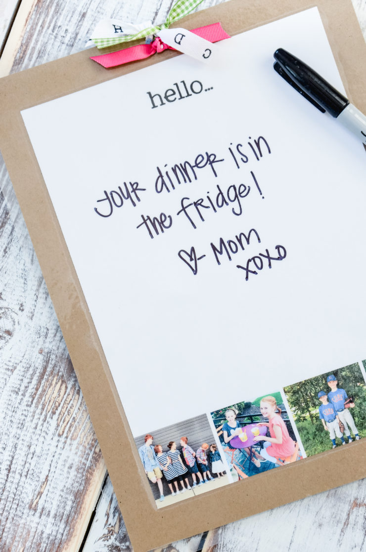 Easy DIY Photo Memo Board | simply kierste.com