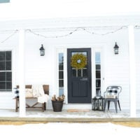 My Farmhouse Winter Porch