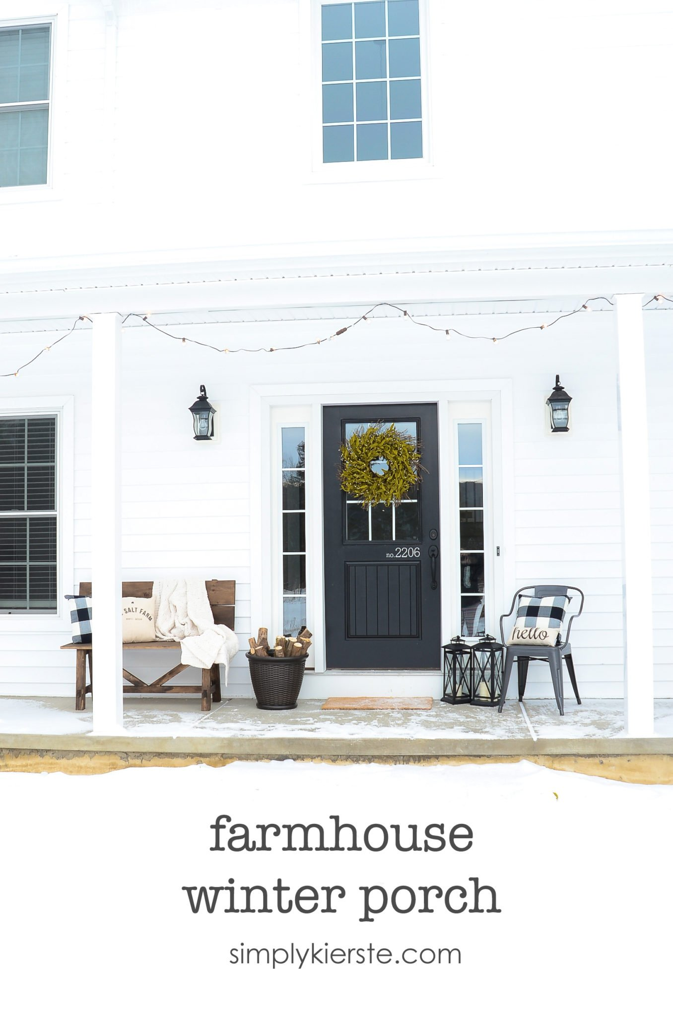 My Farmhouse Winter Porch - Simply Kierste Design Co.