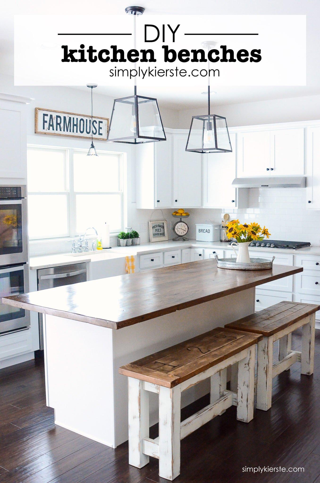 Diy Kitchen Benches Simply Kierste Design Co