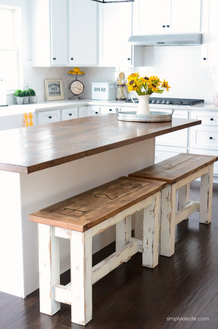 Diy kitchen benches simply kierste design co - Kitchen bench designs ...