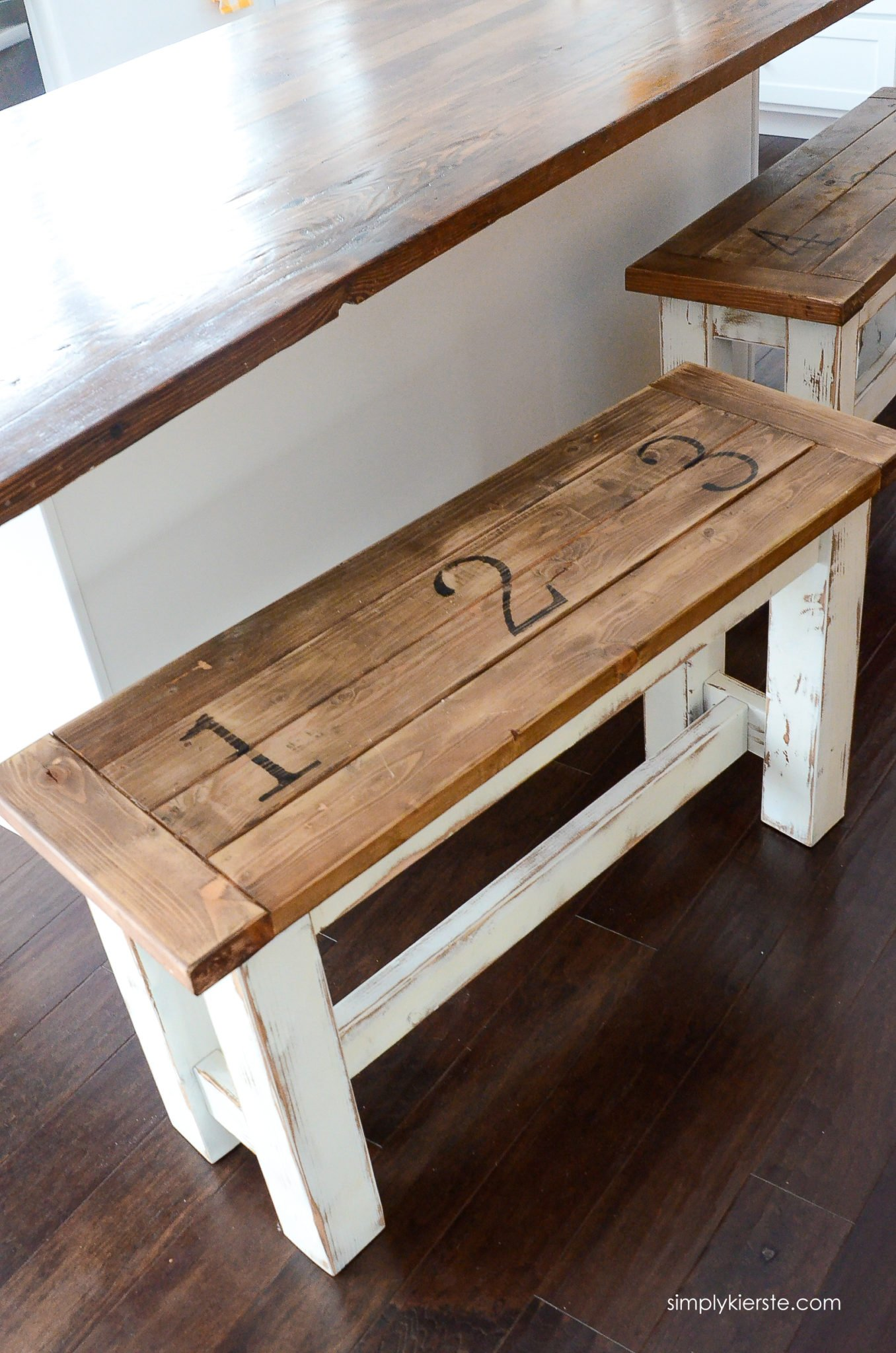 how to build a kitchen bench