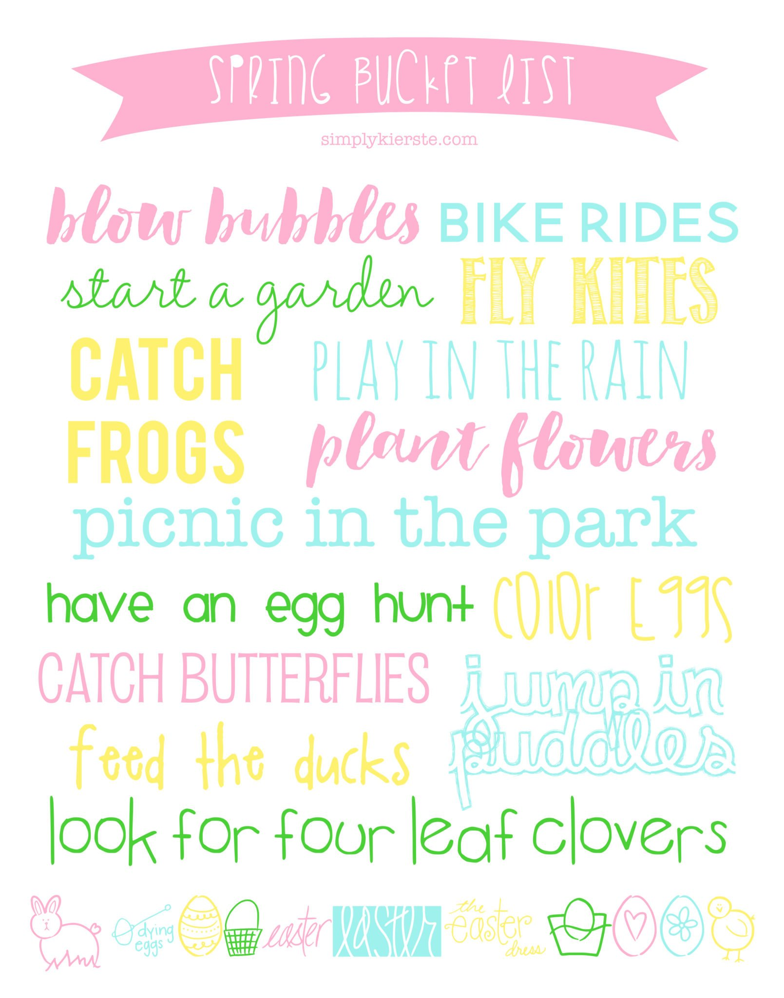 Spring Bucket List Simply Kierste Design Co