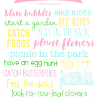 Spring Bucket List | Printable & Decor | oldsaltfarm.com