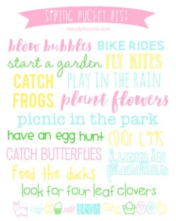 Spring Bucket List | Printable & Decor | simplykierste.com