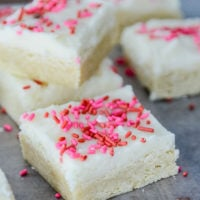Soft & Fudgy Sugar Cookie Bars