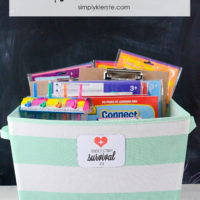 tonsillectomy survival kit | free printable | simply kierste.com