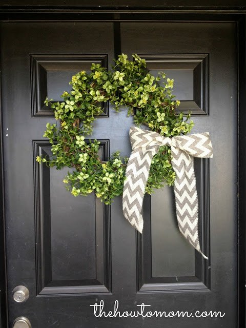 15 minute wreath | spring decor ideas | simply kierste.com