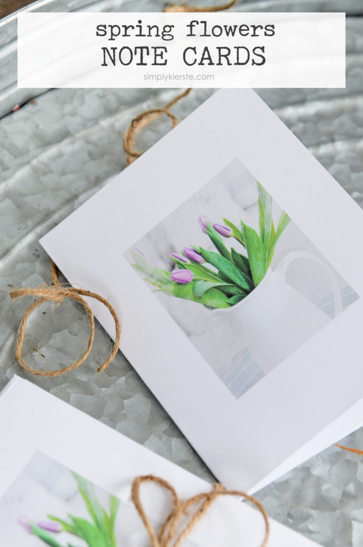 Spring Flowers Note Cards | simplykierste.com