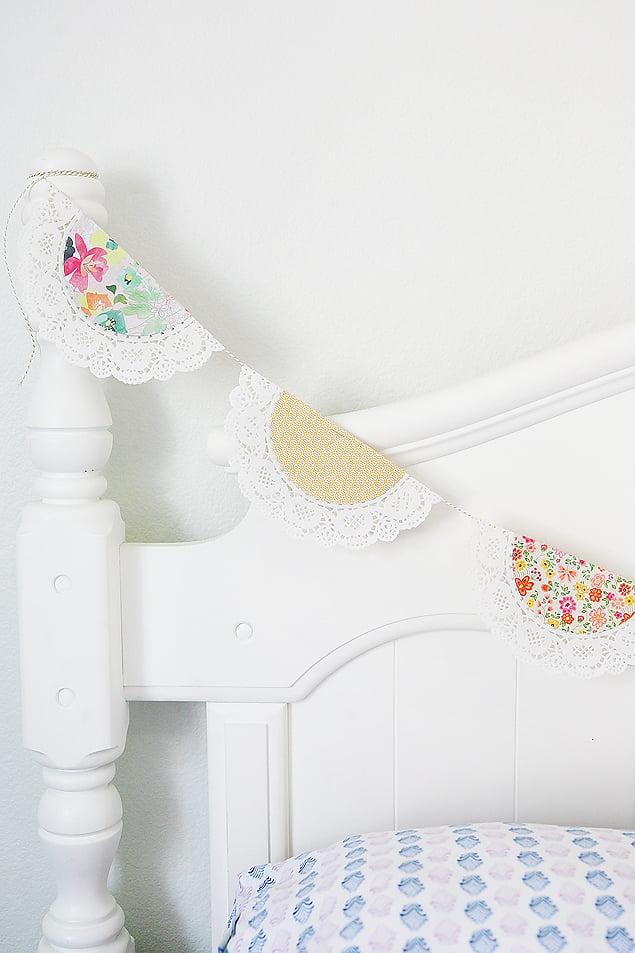 Spring Doily Banner | Spring Decor Ideas | simplykierste.com