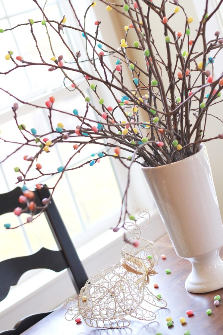 Jelly Bean Tree | Spring Decor Ideas | oldsaltfarm.com