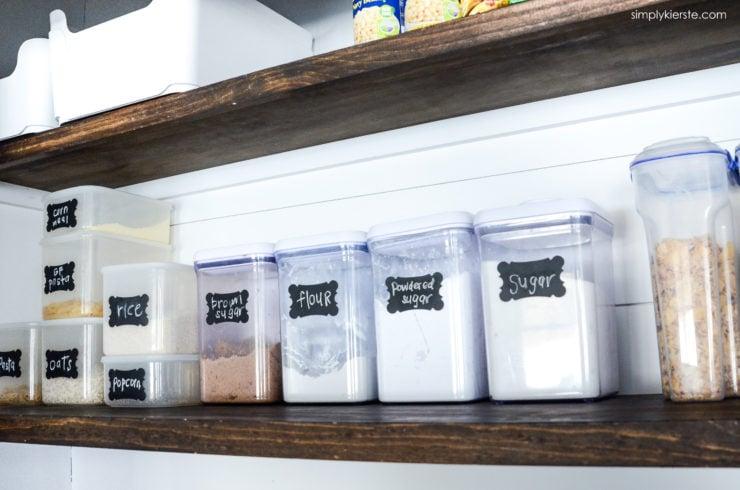Kitchen Pantry Organization | oldsaltfarm.com