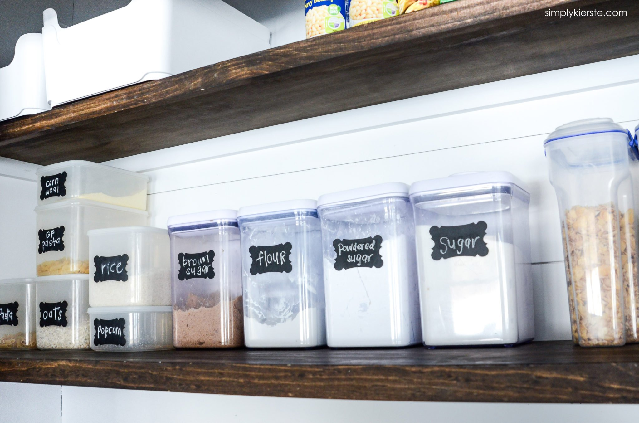 Farmhouse Kitchen Pantry Organization - Simply Kierste Design Co.