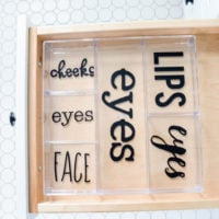 Labeled Makeup Organizer | Silhouette | simply kierste.com
