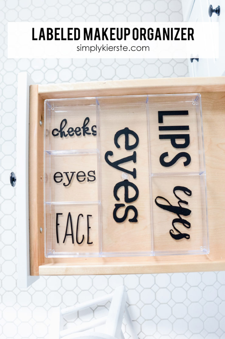 Labeled Makeup Organizer | simply kierste.com
