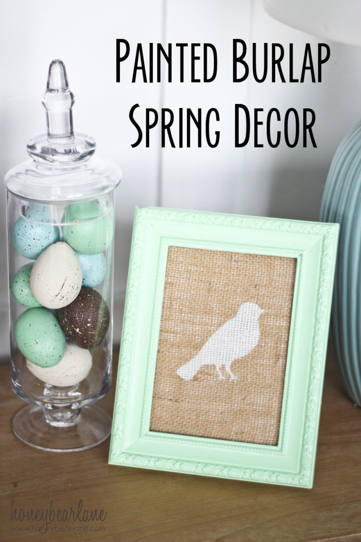 Painted Burlap Spring Decor | Spring Decor Ideas | simplykierste.com