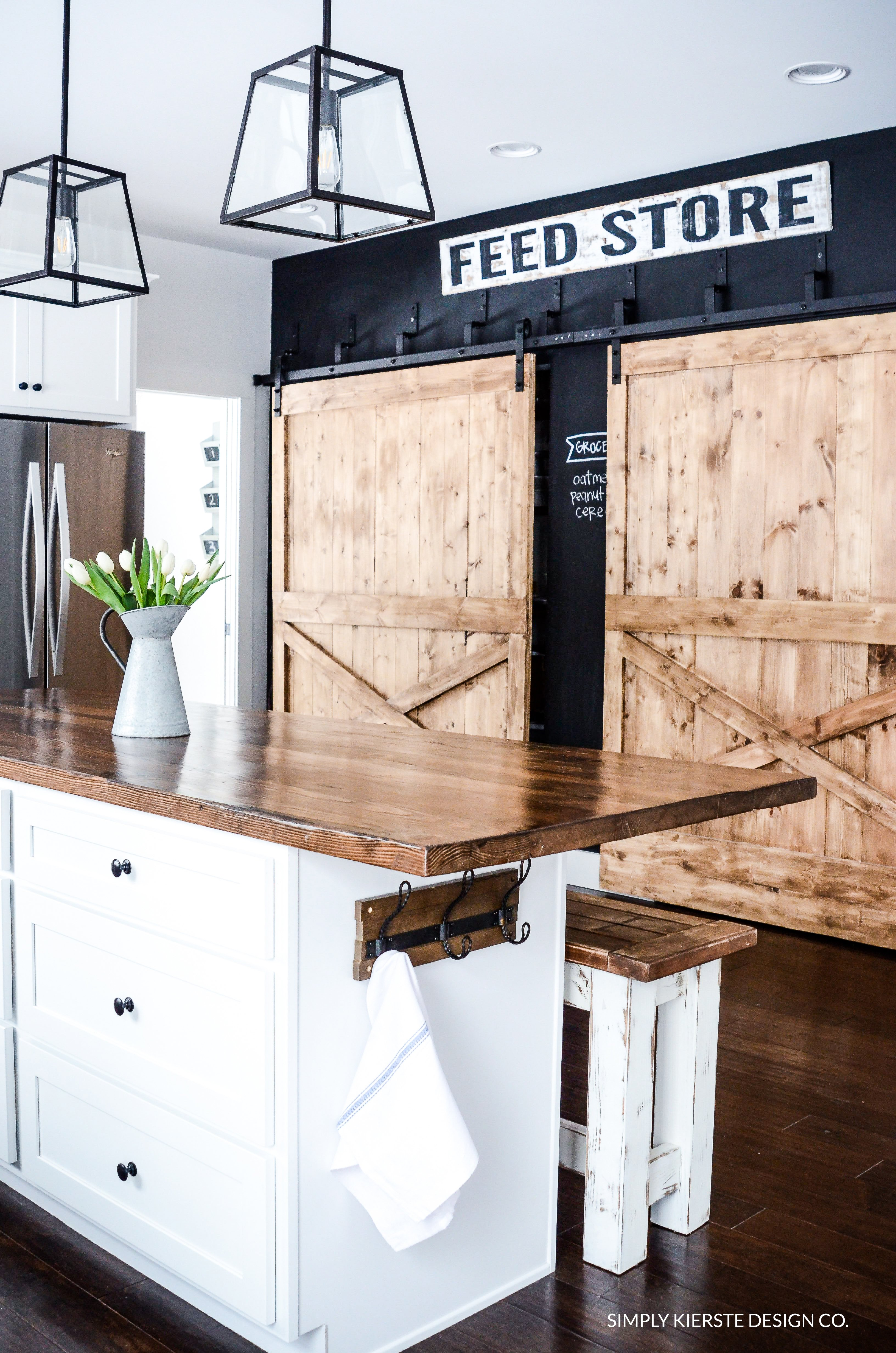 Kitchen Chalkboard With Shelf Why I Love My Chalkboard Wall Simply Kierste Design Co