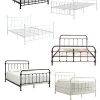 Farmhouse Style Metal Beds on Amazon