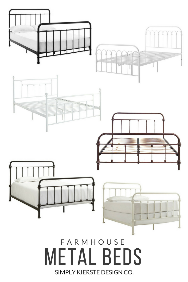Farmhouse Metal Beds | simply kierste.com