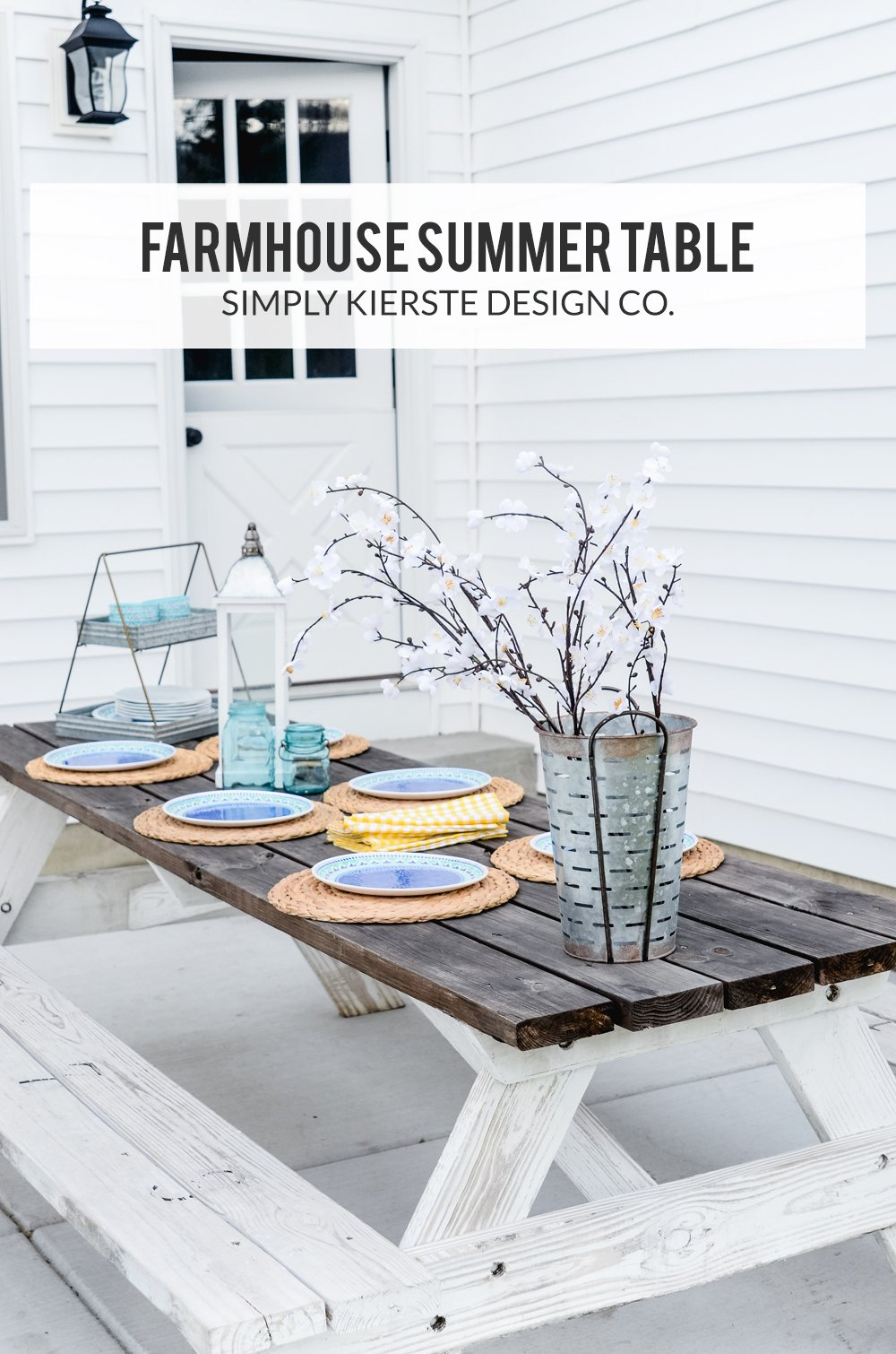 farmhouse summer table | simplykierste.com