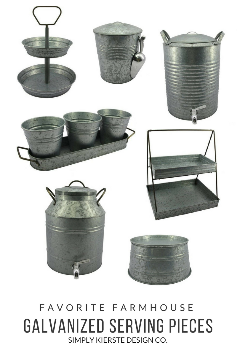 favorite galvanized serving pieces | simply kierste.com