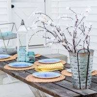 Favorite Galvanized Serving Pieces & Farmhouse Summer Table