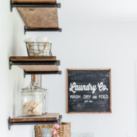 Easy DIY Farmhouse Shelves