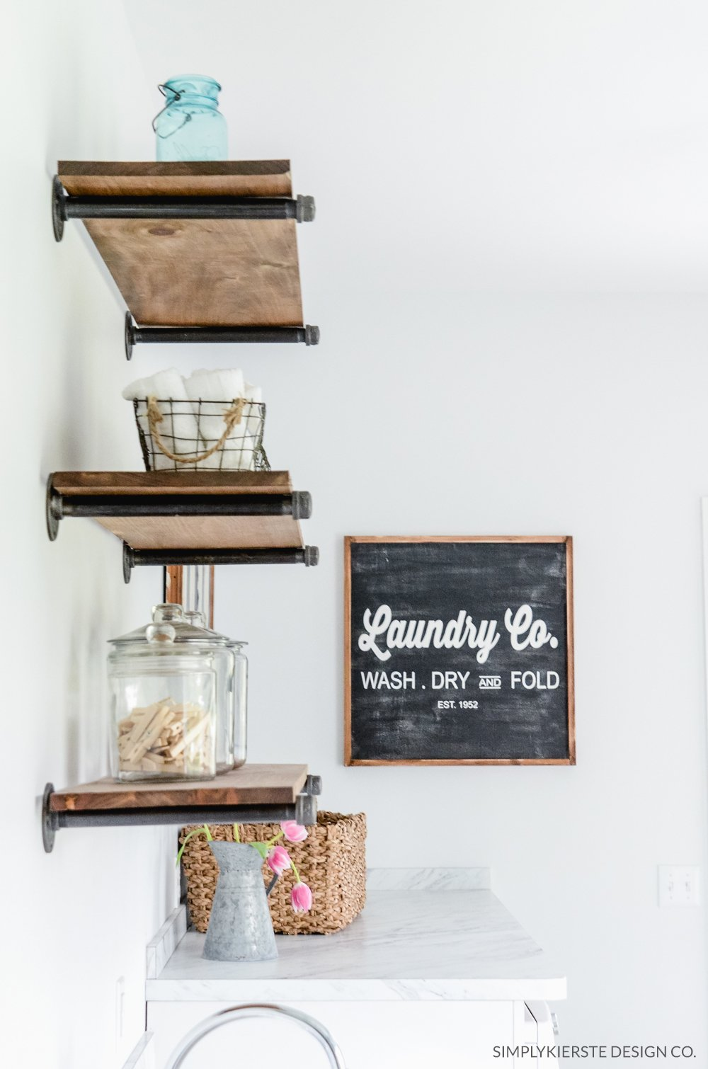 Easy DIY Farmhouse Shelves Simply Kierste Design Co