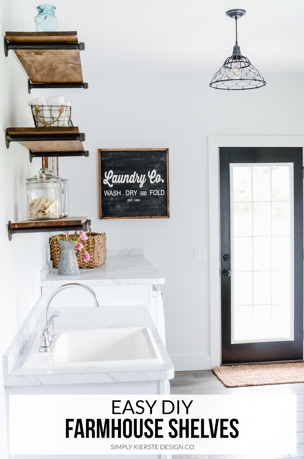 DIY Farmhouse Shelves | simply kierste.com