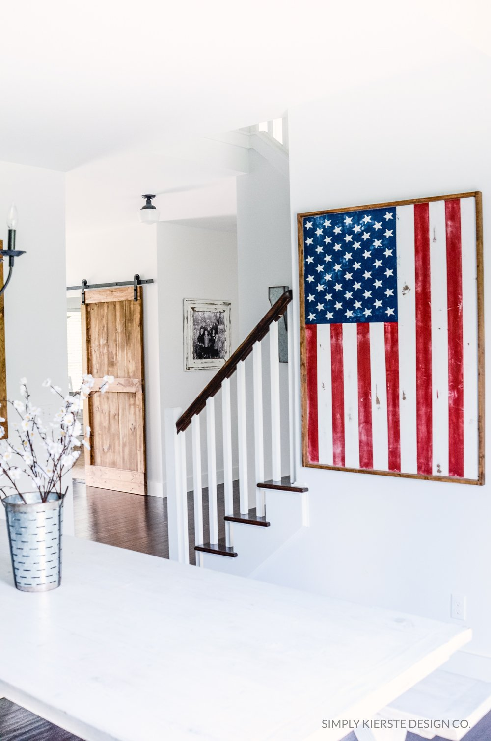 DIY Wood Framed Flag | simply kierste.com