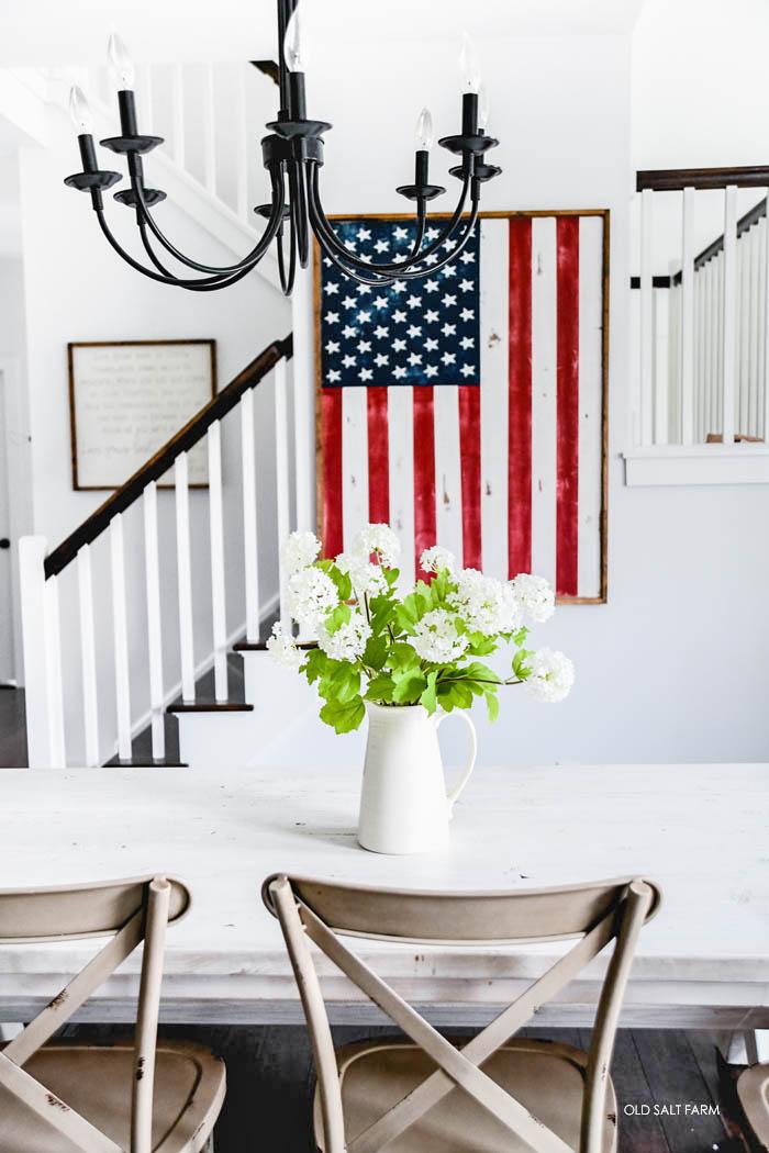 DIY Wood Framed Flag