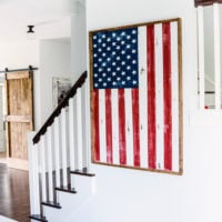 DIY Wood Framed Flag