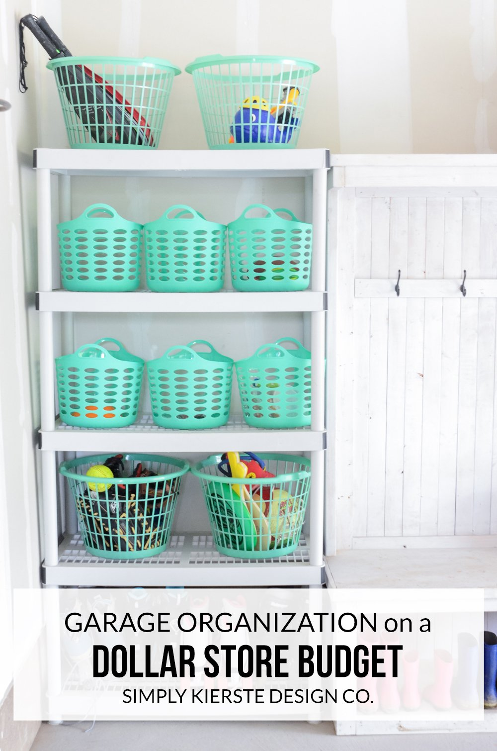 Garage Organization on a Dollar Store Budget | simply kierste.com