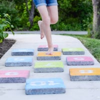 DIY Outdoor Hopscotch