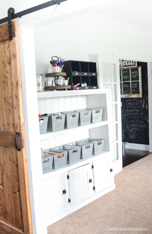 Farmhouse Style Office Storage Ideas | simply kierste.com