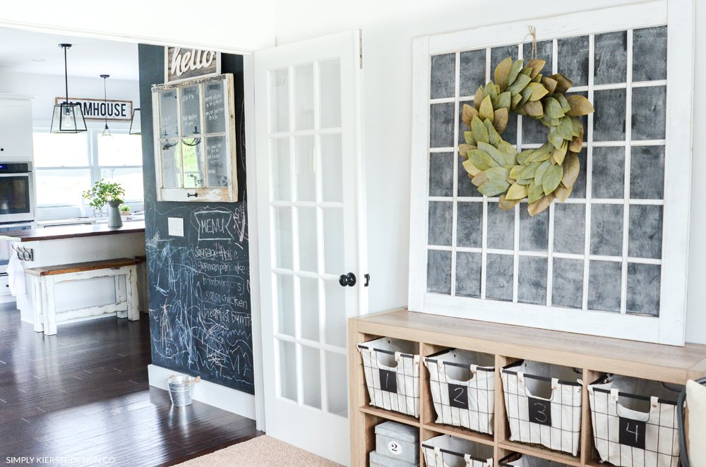 Farmhouse Style Office Storage Ideas | simply kierste.com