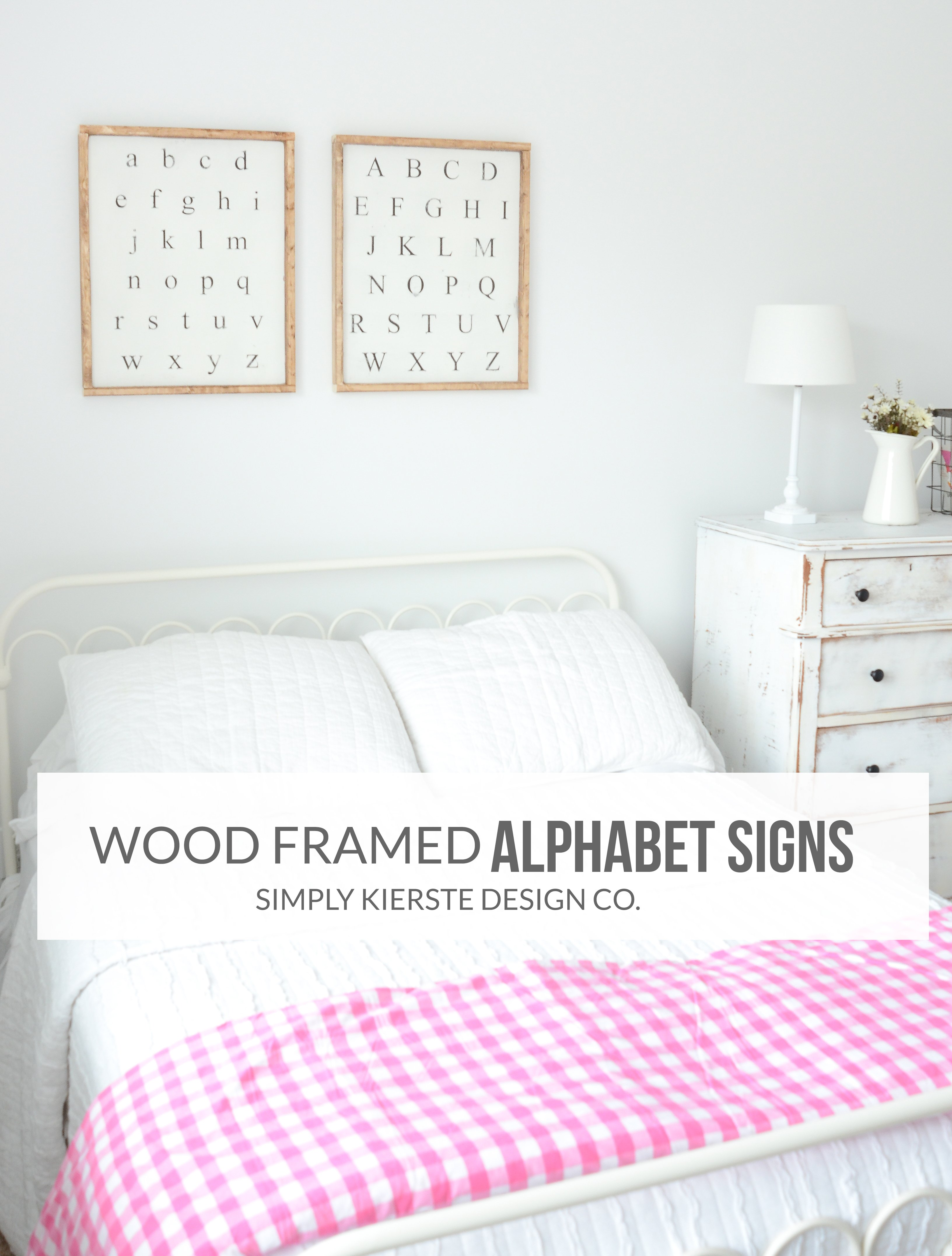 Farmhouse Style Wood Framed Alphabet Signs | simply kierste.com