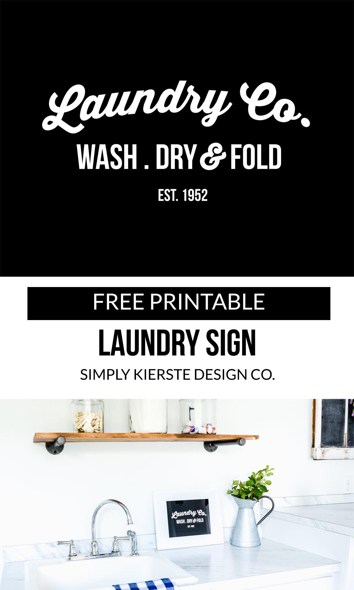 Free Printable Laundry Sign Simply Kierste Design Co