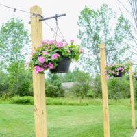 Outdoor String Lights on DIY Posts