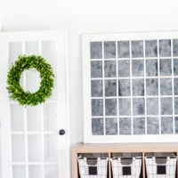 DIY Faux Chalkboard Window | Don't wait to find the perfect old window, just make your own in any size! Perfect farmhouse style! | simplykierste.com