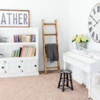 Farmhouse Style Music Room & Library: Before & After