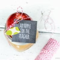 Apple Caramel Dip Teacher Gift